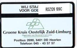 Telefoonkaart  LANDIS&GYR NEDERLAND * RDZ.126  109C * GROENE KRUIS  45 EENHEDEN* Pays Bas * TK *  ONGEBRUIKT * MINT - Nederland