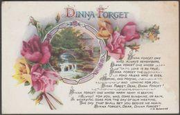Greetings - Dinna Forget, C.1905 - Wildt & Kray Postcard - Feiern & Feste