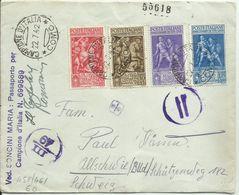 GD10-Tito Livio Serie Completa Su Lettera Per La Germania 22.7.1942 - Da Campione D'Italia - 1900-44 Victor Emmanuel III