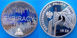 POLONIA 10 Z 2008 ARGENTO PROOFSYBIRACY GROTTE CRISTALLO PESO 15,5g. TITOLO 0,925. CONSERVAZIONE FONDO SPECCHIO UNC. - Polonia