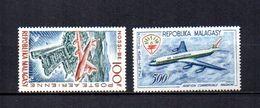 Madagascar   1962-63   .-   Y&T Nº   87-88     Aéreos    (  *   S/goma  ) - Madagascar (1960-...)
