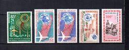 Madagascar   1963-64   .-   Y&T Nº   92-93/94-95-96     Aéreos    (  *   S/goma  ) - Madagascar (1960-...)