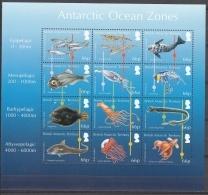 British Antarctic Territory 2016 Bloc Feuillet Vie De L'Océan Antarctique Neuf ** - Brits Antarctisch Territorium  (BAT)