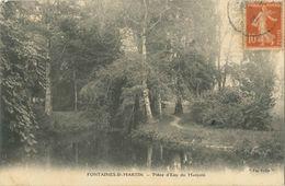 Cpa FONTAINES ST MARTIN 69 - 1916 - Pièce D'Eau Du Manjoin - Autres Communes