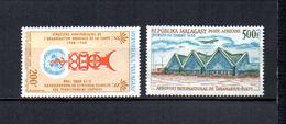 Madagascar   1968   .-   Y&T Nº   104-105     Aéreos    (  *   S/goma  ) - Madagascar (1960-...)