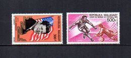 Madagascar   1973-74   .-   Y&T Nº   132-133     Aéreos    (  *   S/goma  ) - Madagascar (1960-...)
