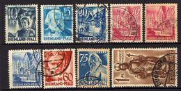 Rheinland-Pfalz 1947 Mi 3; 5; 7; 9-13; 15, Gestempelt [100318XXII] - Zone Française