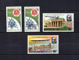 Madagascar   1976   .-   Y&T Nº   165/166-167/168     Aéreos    (  *   S/goma  ) - Madagascar (1960-...)