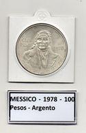 Messico - 1978 - 100 Pesos - Argento - Vedi Foto - (MW118) - Messico
