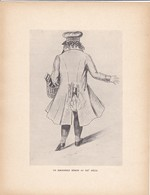 GRAVURE-un Bibliphile Rémois Au XIXe Siècle--( Reproduction Journée Du Livre 1932 )--voir  2 Scans - Other Collections