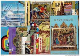 40 Blocks **/o Block-Lot Afrika 80€ Gemälde Olympia Sport Technik Bloque M/s Nature Art Fauna Topic Sheet Bf Africa - Stamps