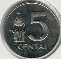 Lituanie Lithuania 5 Centai 1991 UNC KM 87 - Lituanie