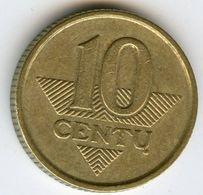 Lituanie Lithuania 10 Centu 1999 KM 106 - Lituanie