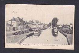 Vente Immediate St Saint Amand Montrond (18) Le Canal Vue Prise Du Pont ( Batellerie Chargement Peniche ) - Saint-Amand-Montrond