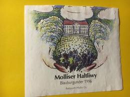 7930 - Molliser Haltliwy Blauburgunder (Pinot Noir) 1996 Suisse Illustration Kurt Plaas - Art