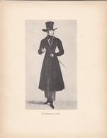 GRAVURE---un Parisien En 1820---( Reproduction Journée Du Livre 1932 )--voir  2 Scans - Other Collections