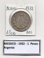 Messico - 1932 - 1 Peso - Argento - Vedi Foto - (MW330) - Messico
