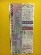 7932 - Badia A Passignano 1994 Chinati Classico Antinori Italie Style Billet De Banque - Etiketten