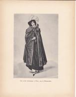 GRAVURE-une Artiste Dramatique à Paris Sous La Restauration---( Reproduction Journée Du Livre 1932 )--voir  2 Scans - Other Collections