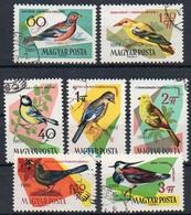 Ungarn 1961  MiNr.  1808/ 1815 A  O/ Used ;  Singvögel - Oiseaux