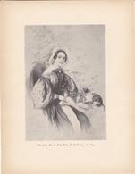 GRAVURE-une Jeune Fille De Saint-brice  (ile De France ) En 1835---( Reproduction Journée Du Livre 1932 )--voir  2 Scans - Other Collections