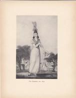 GRAVURE-une Cauchoise Vers 1820---( Reproduction Journée Du Livre 1932 )--voir  2 Scans - Other Collections