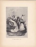 GRAVURE-un Baptême Normand En 1843--( Reproduction Journée Du Livre 1932 )--voir  2 Scans - Other Collections