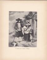 GRAVURE---un Départ Pour Le Marché En Bretagne--( Reproduction Journée Du Livre 1932 )--voir  2 Scans - Other Collections