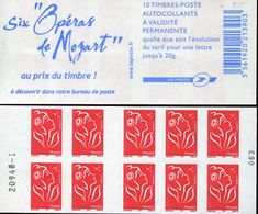 31673 France, Special Booklet  Of Stamps, With 6 Mozart Operas - Musik