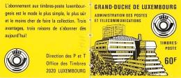Luxemburg  MH 1  Gelb 2 Blatt Postfrisch - Booklets