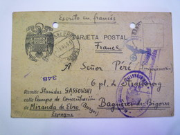 ENVELOPPE  Au Départ De  MIRANDA De EBRO  à Destination De  BAGNERES-de-BIGORRE    XXX  (joli Dessin à La Plume) - 1931-Aujourd'hui: II. République - ....Juan Carlos I