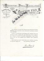 26 - Drôme - SERVES - Facture MOTTON - Manufacture De Pipes Et De Blagues En Vessies - 189? - REF 268C - Factures & Documents Commerciaux