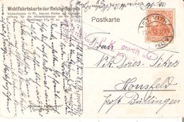 CP. TP.GERMANIA 7,5pf. De ST.VITH Du 10/4/1918 V/HONSFELD Censure De MALMEDY. - WW I