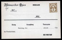 A5234) Schweiz Privatganzsache Karte Männerchor Spiez Ungebraucht - Ganzsachen