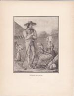 GRAVURE---paysans De Laval--( Reproduction Journée Du Livre 1932 )--voir  2 Scans - Other Collections
