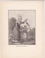 GRAVURE---femmes D'orméans Vers 1830--( Reproduction Journée Du Livre 1932 )--voir  2 Scans - Other Collections