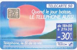 Télécarte 50 Téléphone Le Fil De La Vie - Francia