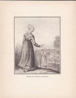 GRAVURE--femmes De Nogent Le Rotrou--( Reproduction Journée Du Livre 1932 )--voir  2 Scans - Other Collections