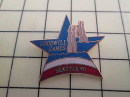 Pin1015b Pin's Pins / Rare Et De Belle Qualité  : SPORTS / NATATION SYNCHRONISEE GOODWILL GAMES SEATTLE 90 - Swimming