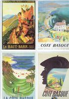 Anciennes Pubs Chemin De Fer D'Alsace Et De Lorraine Le Haut-Barr-Saverne - Côte Basque - Ferrovie