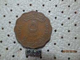 EGYPT 5 Milliemes 1938 - 1357   # 5 - Egypt