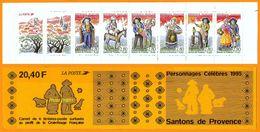 France**LUXE Carnet Personnages Célèbres 1995 N° BC2982, Neuf Et Non Plié, De 6 Timbres Et 2 Vignettes, P 2976 à 2981, L - Markenheftchen