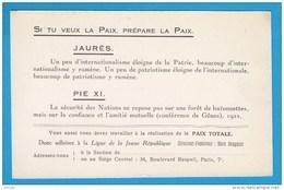 CPA  Ann.1920 Carte D'adhésion LIGUE De La JEUNE RÉPUBLIQUE Directeur- Fondateur MARC SANGNIER -2 SCANS - Partis Politiques & élections