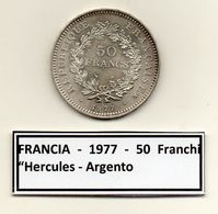 "Francia - 1977 - 50 Franchi "" Hercules "" - Argento - (FDC6560) - M. 50 Franchi"