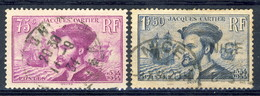 Francia 1934 Serie N. 296-297 Usati Catalogo € 6,90 - Oblitérés