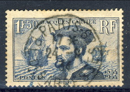 Francia 1934 Serie N. 297 Fr. 1,50 Blu Usato Catalogo € 4,60 - Oblitérés