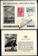 BE   Aérophilatélie  --  1948  --  Vol Commémoratif Sabena --  Bruxelles - Ostende - Lympne --  Avec Encart - Postmark Collection