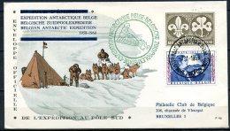 BE   Aérophilatélie  --  1959  --  Expédition Antarctique Belge  --  Enveloppe Officielle Au Pôle Sud - Storia Postale