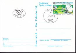AUTRICHE, ENTIER POSTAL OBL WIEN, TYPE TIMBRE EUROPA DE 1988. (34B) - Entiers Postaux