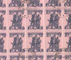 Poland 1955 Full Sheet 20 Gr Warsaw Monuments Polish Soviet Brotherhood Stamps CTO - Full Sheets